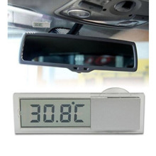 Vehicle Car View Mirror Suction Cup Digital LCD Temperature Thermometer(China (Mainland))