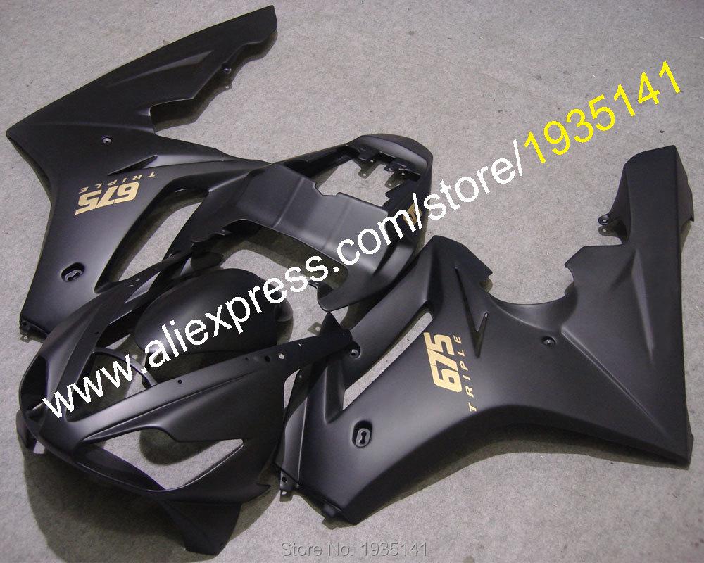 Hot Sales,For Triumph Daytona 675 06 07 08 fairings ABS 675 Daytona 2006 2007 2008 Fashion black Cowlings (Injection molding)