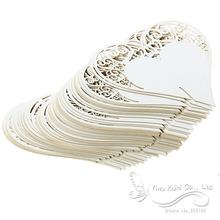 Wedding Table Decoration Place Cards/Wedding Party Decoration Laser Cut Heart Floral Wine Glass Place Cards(China (Mainland))