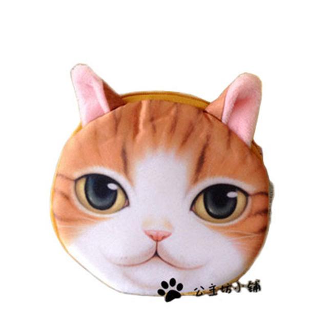 3D девушка кошелек сумка женская мини cat face молнии кошельки для монет собака детский ...