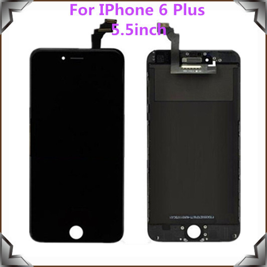 5.5 inch Original LCD Assembly Screen Replacement Display Touch Screen Digitizer For IPhone 6 Plus LCD,Free Shipping!!(Black)
