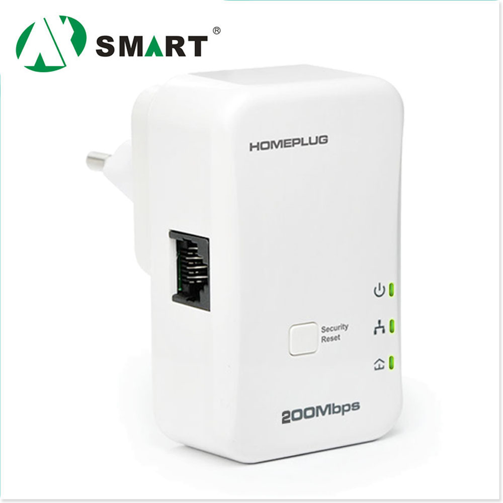 2014 New arrival 1 PCS Electric 200Mbps PLC Modem Networking Power Line Mini HomePlug Communication Powerline Ethernet Adapter(China (Mainland))