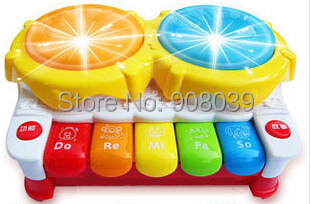 Hot Sale Light-Up Music Drum Electronic Multifunctional Hand Drum Keyboard Baby Learning Musical Toys For Kids(China (Mainland))
