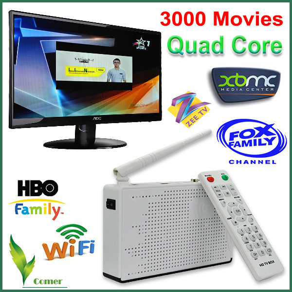 Indian IPTV box hd,170 plus HD Indian channels Iptv box with Free HDMI cable,best HD Indian IPTV box support HBO,FOX,ETV Bangla(China (Mainland))