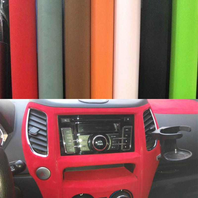 car sticker 135 50cm velvet fabric interior outside car film auto upholstery membrane decoration. Black Bedroom Furniture Sets. Home Design Ideas