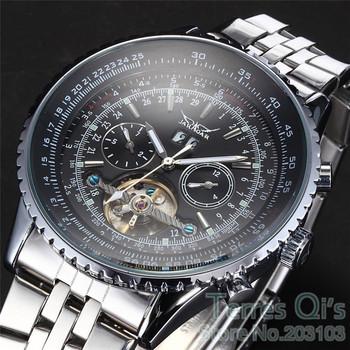 JARAGAR Luxury CHRO Tourbillon 4 Hand Mechanical Auto Watches Mens Sport Wristwatch Christmas Gift
