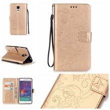 Buy Wallet Case fundas Samsung Note 4 IV Cover Case coque Samsung Galaxy Note 4 IV Case Note 4 IV N9100 N9108 N9108V + Stand for $3.22 in AliExpress store