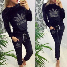 2015 New Autumn Sport Suits Women Sweatshirt+Pants Hoodies One Set Clothing Tracksuits Pullovers 2Pcs/Lot Active Costumes(China (Mainland))