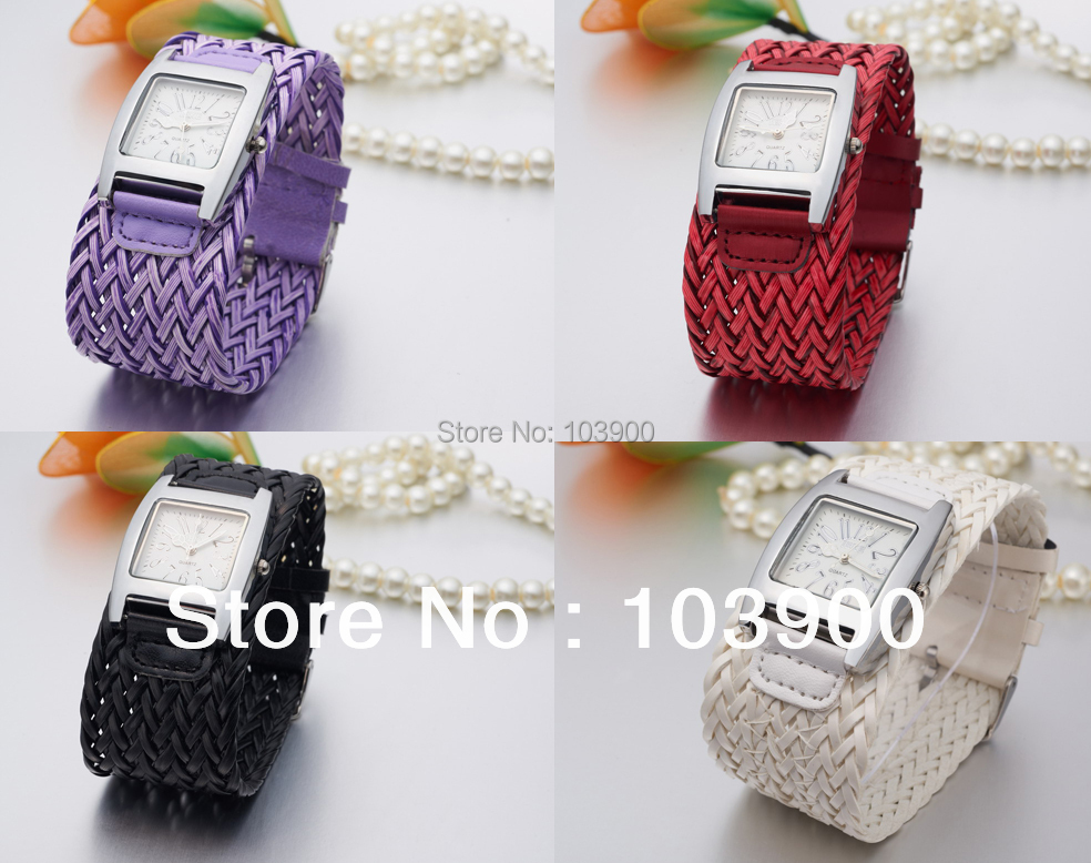 Free Shipping Fashion Womens Watch Bohemian Style Braided Square Dial Quartz The Hours Wrist Watch ,Wholesale hot sale<br><br>Aliexpress