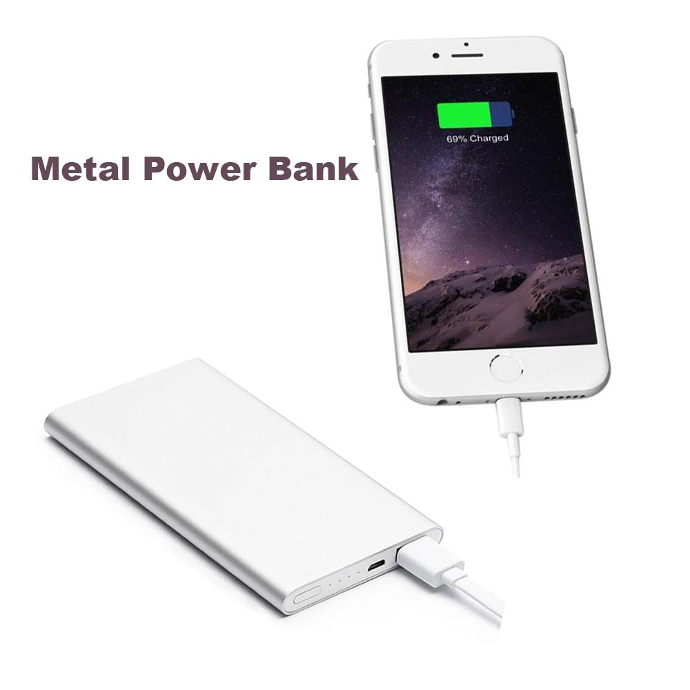 New Metal Ultra Thin Mobile Power Bank External Battery Portable Power Bank for iPhone 6 6S 5S 5 5C 4S 4 and Others(China (Mainland))