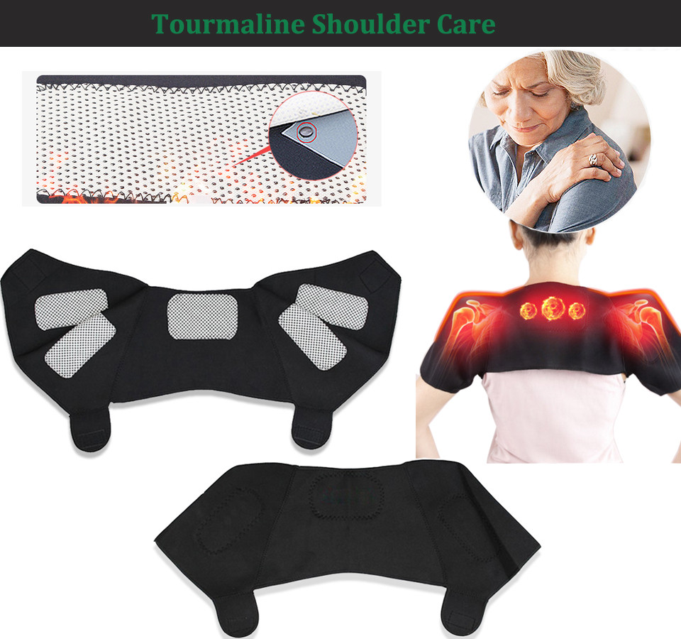 Tcare 7pair/set Tourmaline set self-heating magnetic waist belt kneepad neck ankle support shoulder pad elbow Braces health care cheap