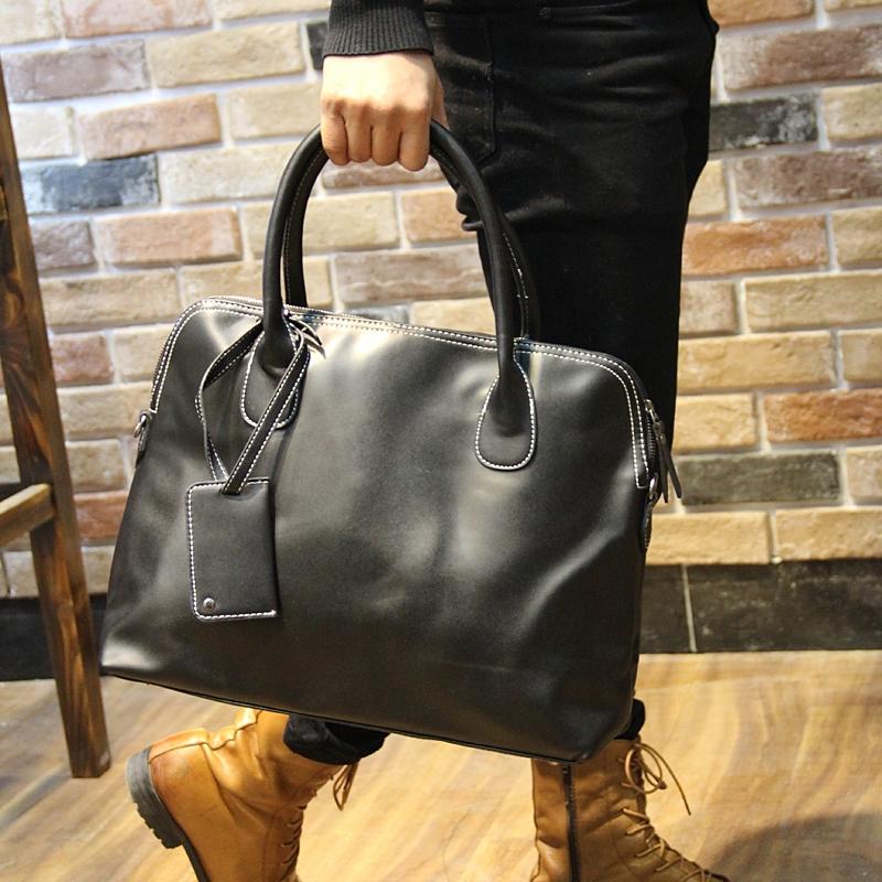 2016 Genuine Leather Men Bag genuine Leather Men's Handbags Casual Business Laptop Shoulder Bags Briefcase Messenger bag