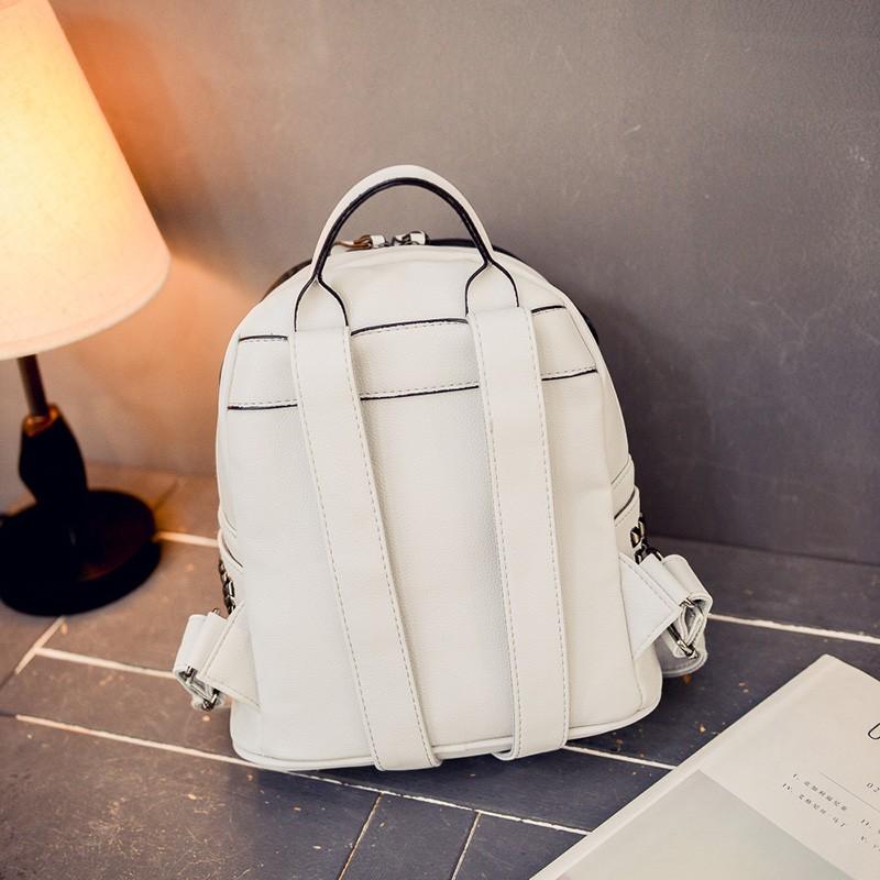 2016 cool sunglasses fashion women backpacks Korean rivet mini school bag backpack for youth lady College girls rucksack (38)