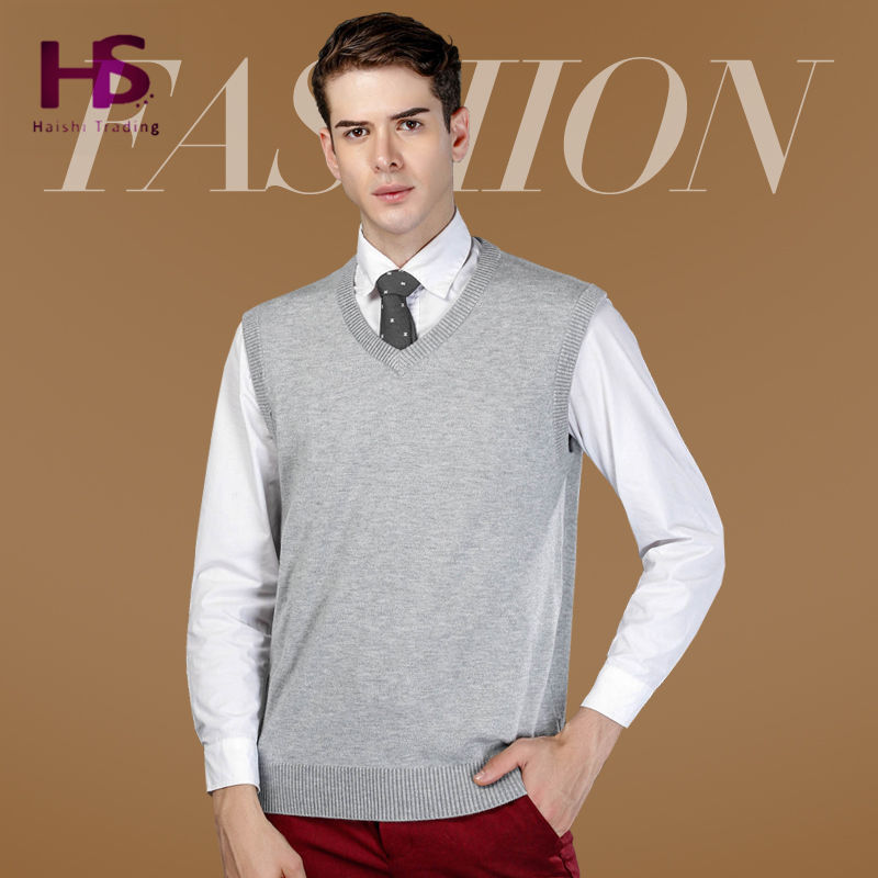 2016 New Autumn Winter Warm Cashmere Sweater Vest Men Classic Sleeveless Coat Wool Solid Color V-Neck Pullover Men Jersey Casual(China (Mainland))