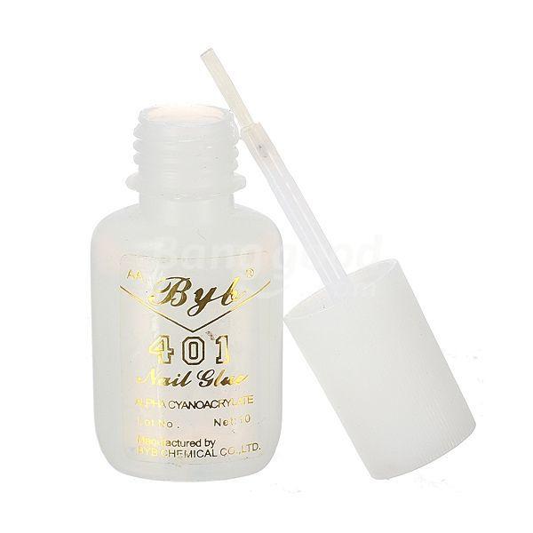 trad 10g Long Lasting Practical 401 Nail Art Salon Glue Brush On(China (Mainland))