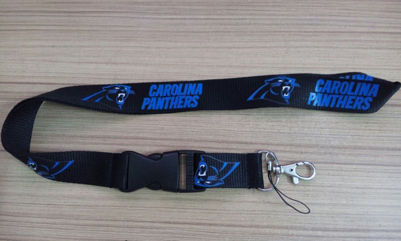 1pc/lot New FOOTBALL Carolina Panthers N FL Lanyard Detachable Keychain(China (Mainland))