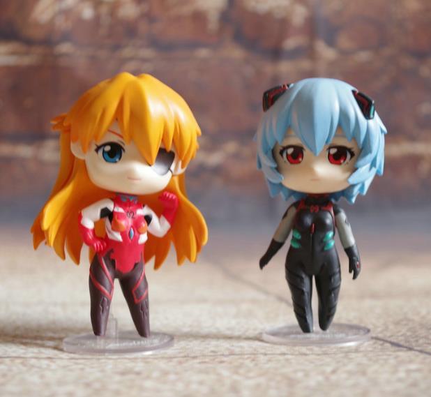EVA Neon Genesis Evangelion Ayanami Rei Soryu Asuka Langley Q Ver. PVC Action Figure Collectible Model Toy 13cm KT1748(China (Mainland))