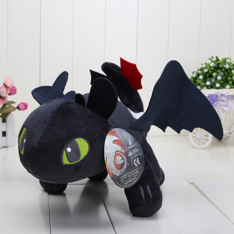 100pcs/lot 40cm 15.8'' How to Train Your Dragon Toothless Night Fury Plush Doll Soft Stuffed Toy(China (Mainland))
