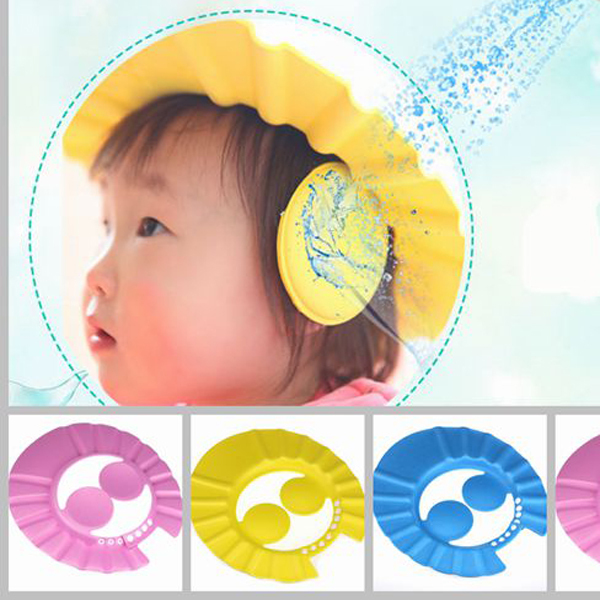 Hot Adjustable Convenient Baby Child Kids Ear Shampoo Bath Shower Cap Hat Wash Hair(China (Mainland))