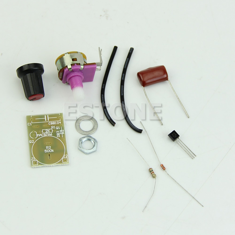 New 100W Dimmer Module with Switch Speed Regulation Module DIY Kit Components(China (Mainland))