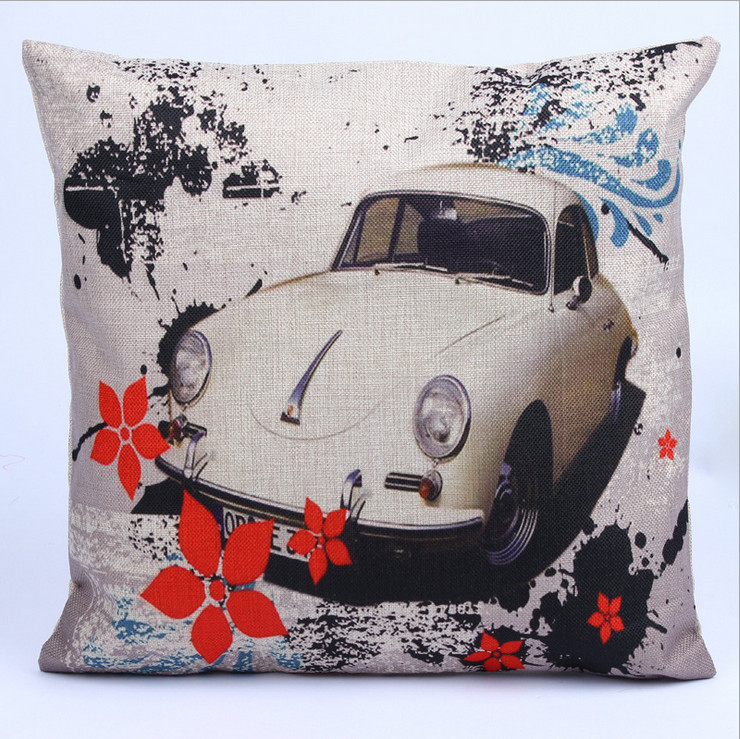 Linen Cushion Cover Coussins Decoratif Printed Throw Capa De Almofada Decorative Pillows Car Covers Cheap Home Decor Pillow Case(China (Mainland))