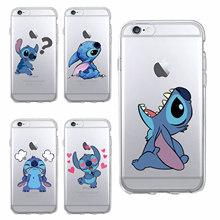 Buy Funny Cute Stitch Cartoon Emoji Soft TPU Clear Phone Case Fundas Coque iPhone 6 6S 6Plus 7 7Plus 5 5S SE 5C SAMSUNG Galaxy for $1.43 in AliExpress store