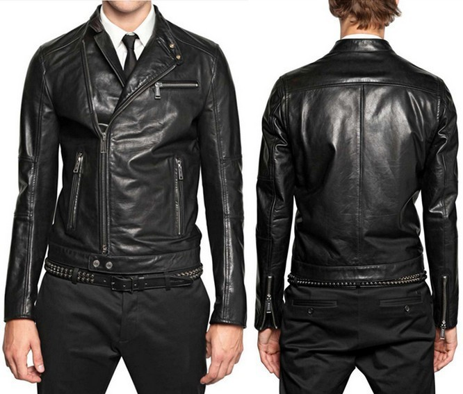 Winter male short design leather clothing punk collar diagonal zipper jacket trend washed free shippingОдежда и ак�е��уары<br><br><br>Aliexpress