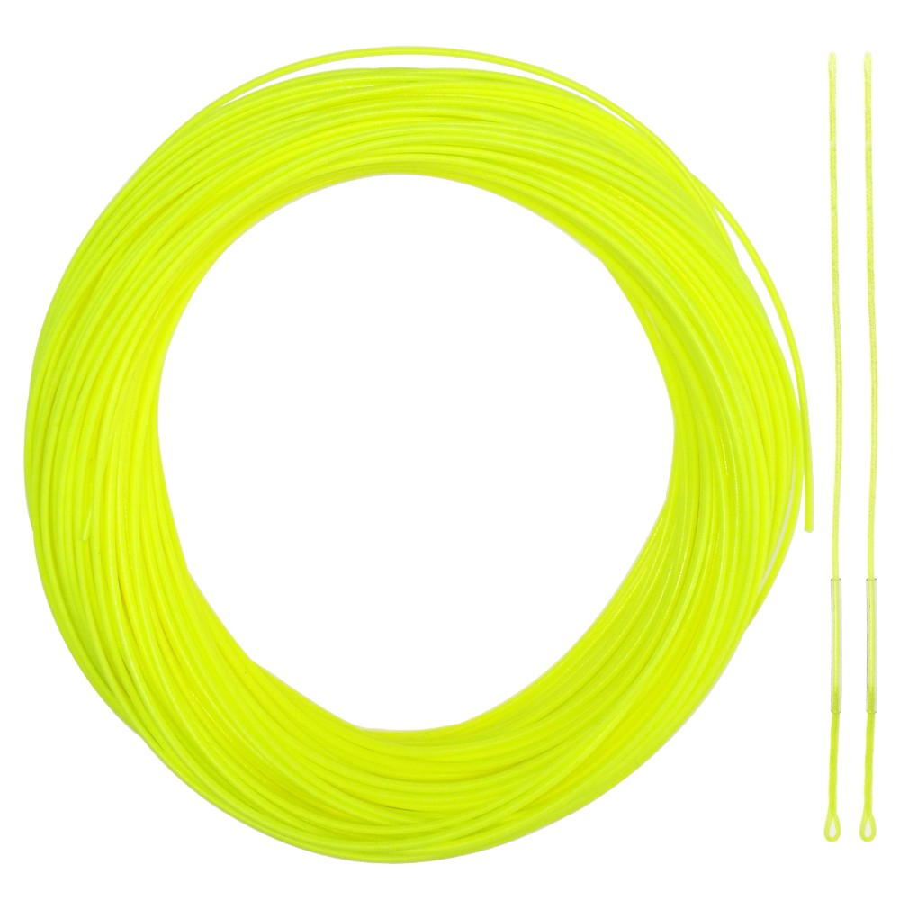 2/3/4/5/6/7/8 WT Fly Fishing Line Combo Weight Forward Floating Yellow Fly Line 20/30LB Backing Line Tippet Tapered Leader Loop