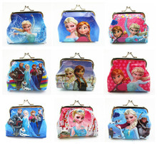 New fashion 5pcs/lot baby girls Frozen Coin Purses kids Snow Queen wallet chilldren princess Elsa Anna money bag party supplies
