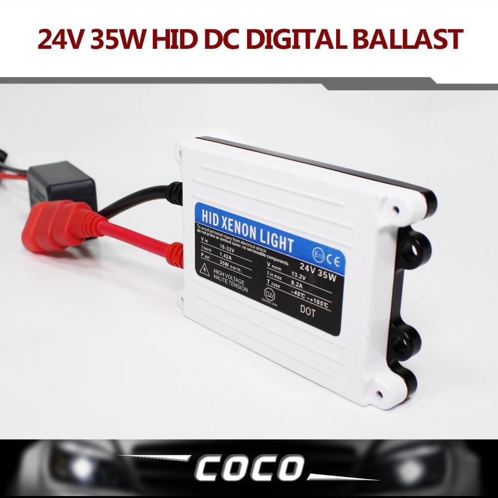 Free shipping 2pcs 24V DC 35W hid ballast Good Quality HID xenon slim digital ballast car