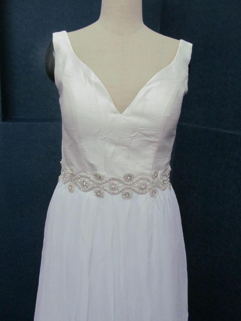 Fashion Sew On Cloth High QualityCrystal rhinestones Mesh Trim Silver 5yards wedding belts Sashes swarovski rhinestones Applique(China (Mainland))