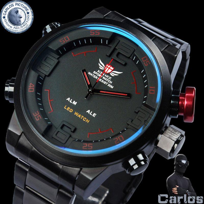 epozz montre militaire plein acier montres hommes marque de luxe relogio masculino 2014 reloj. Black Bedroom Furniture Sets. Home Design Ideas