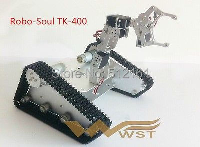 Robo-Soul TK-400 crawler robot tank mechanical arm 4 degrees freedom - westerrc store