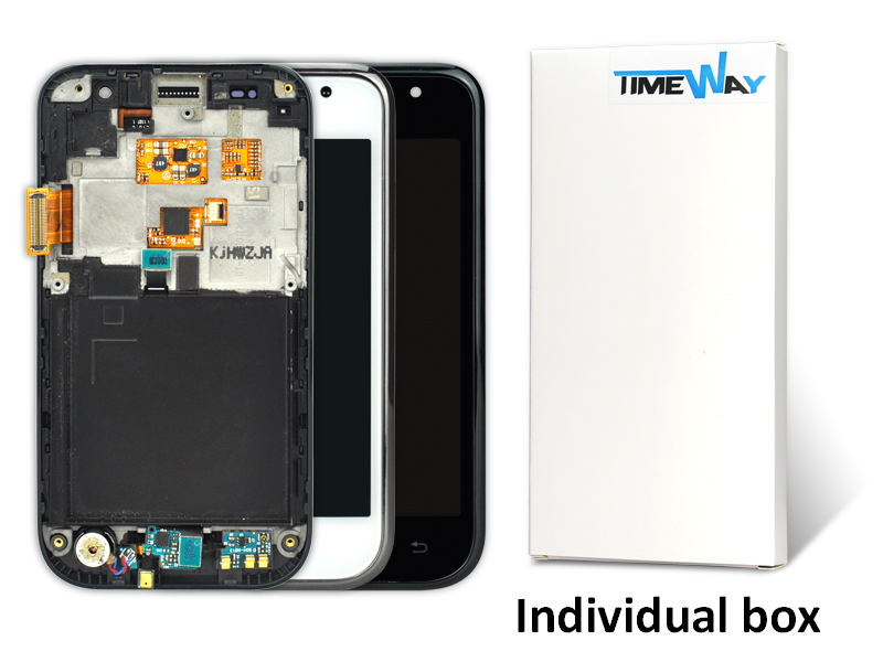 10Pcs Original And test before shipping For Samsung I9000 LCD Touch Screen with Digitizer And Frame Assembly Black(China (Mainland))