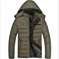 2015 Men Winter jacket middle-aged thick down jacket winter leisure men's white duck down jacket,Free shipping