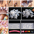 30Pcs 3D Acrylic Nail Art Template Carved Mold Tips Designs Pattern Decor DIY Different Styles Transparent