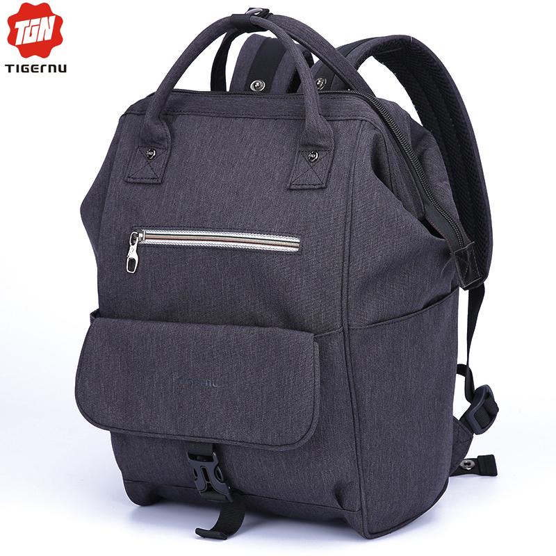 2016 Women Backpack Tigernu Brand Nylon waterproof 12inch Mini Laotop Bag Men Ipad Laptop Backpack Handbag Travel Bags For Women(China (Mainland))