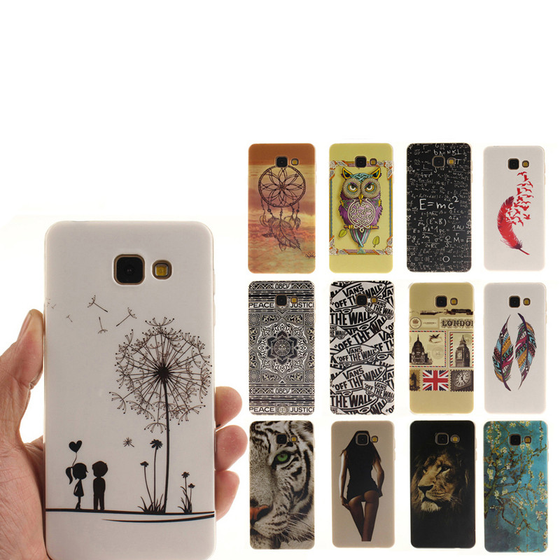 2016 TPU Flower Printed Case For Samsung GALAXY S3 S4 S5 Mini S6 S7 edge A3 A5 j3 j5 j7 A510 G530 Gel Silicone Back Phone Cover