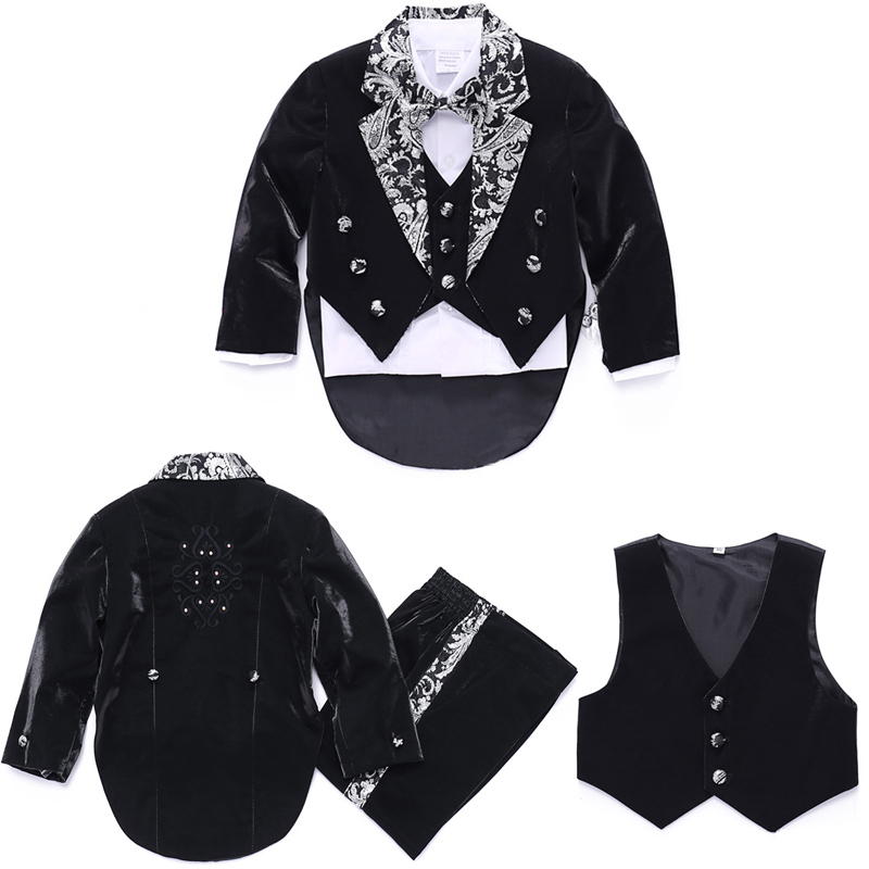 Baby boys Blazers jackets set 5 piece Wedding suits Boys clothes Kids Blazers suit for Weddings Tail Formal suits Baby clothes<br><br>Aliexpress