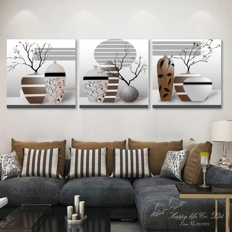 3 panel modern art Modern oil Painting Home Decorative wall Art Paint Canvas Print Abstract branches - If you come here store