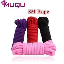Four Style SM Bondage Rope strapon bdsm Sex linen cotton nylon leather rope sex product for adult femdom bondage sex SM games