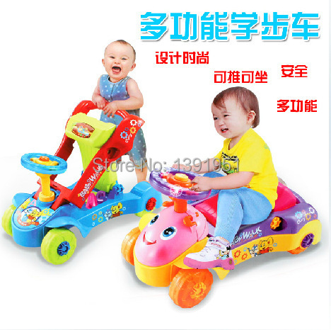Hot Sale Musical Swing Car For Kids Ride On Car Four Wheels Baby Walker Ride On Children Car Toy(China (Mainland))