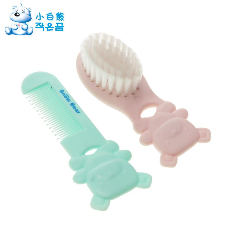 2Pcs / set Children Boy Girl Safety Soft Brush Comb Baby hair Care Set cute bear Design Scalps free shipping(China (Mainland))