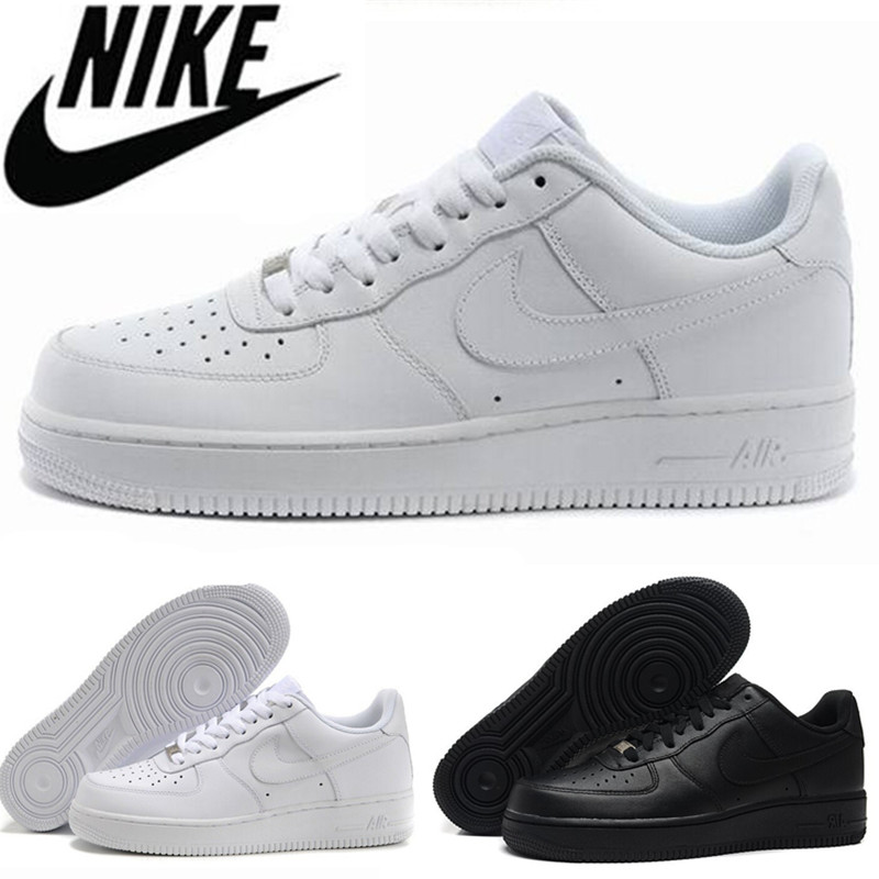 2016 hot sale free shipping forceing 1 one men & women original goods quality AF1 black white with AIr size 36-45 ICE707-4(China (Mainland))