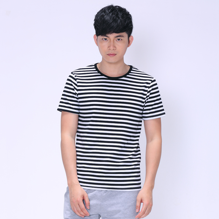 One direction tshirt short sleeve striped shirt men tee for Mens short sleeve patterned shirts