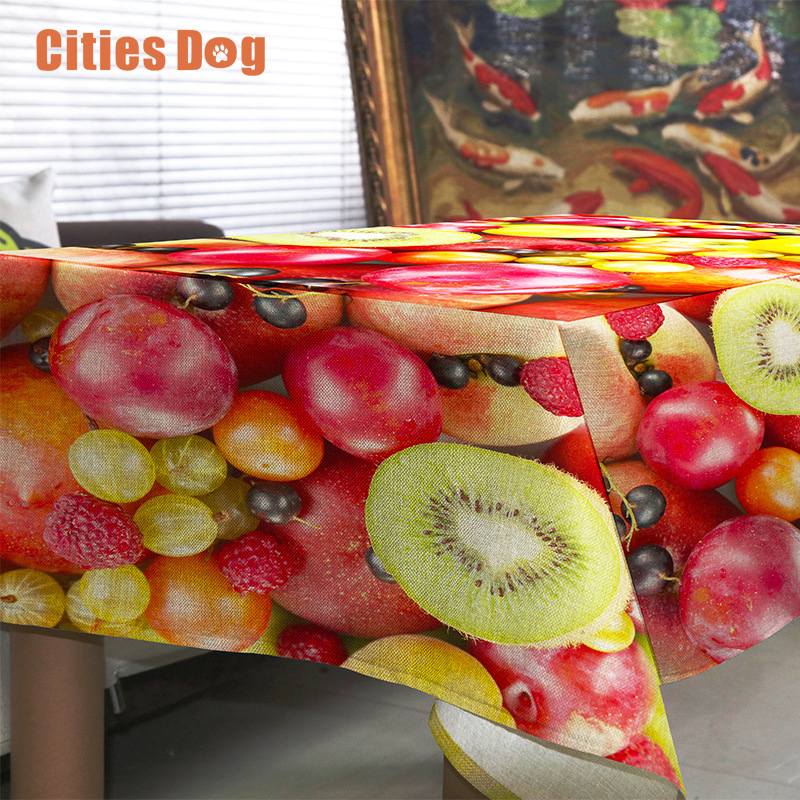 tablecloth Modern simple and colorful fruit nappe rectangulaire Decorate home wedding tablecloth on the table round table cloth(China (Mainland))