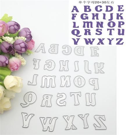 Alphabet die cuts,metal die cutting dies in scrapbooking embossing folder for sizzix fustella big shot cutting machine