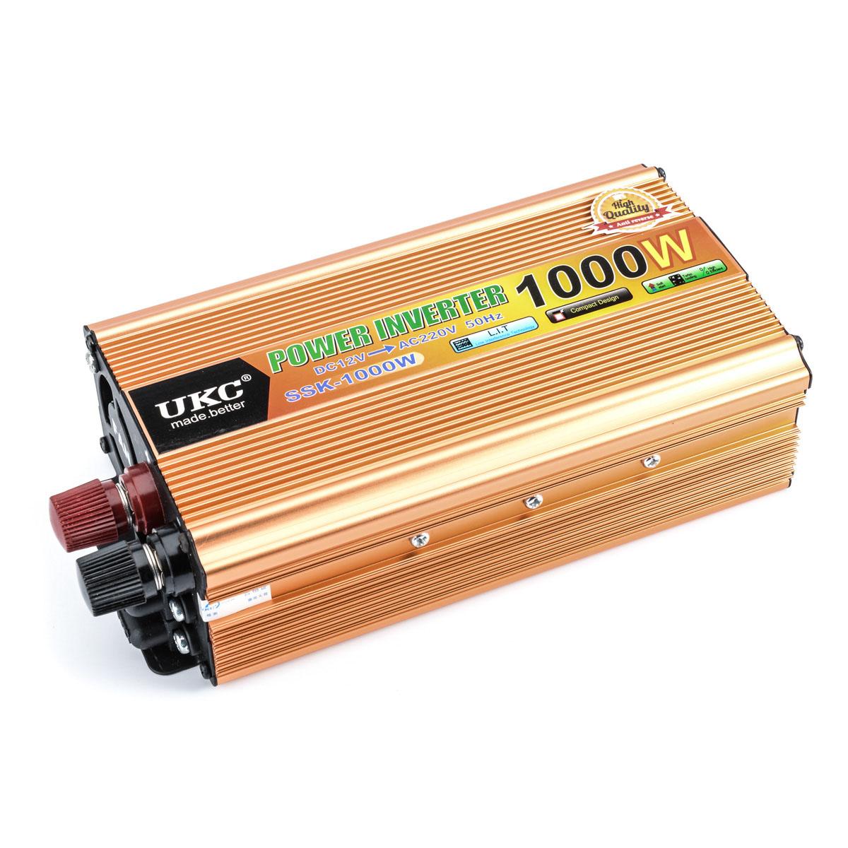 Car inverter 1000W 12V 220V DC 12 v to AC 220 v vehicle power supply switch on-board charger inverter Adapter Converter CY177-CN(China (Mainland))