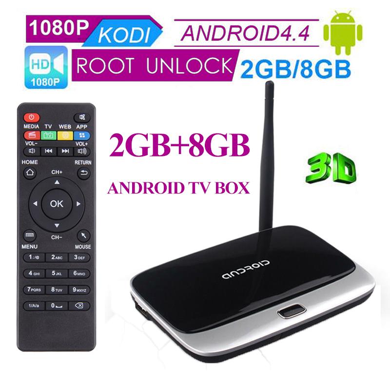 Mini Android Media Player 1080P Full HD 2GB+8GB Android 4.4 TV Box With HDMI VGA SD Smart TV Quad Core Q7 Android WiFi Mini PC(China (Mainland))