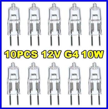 10pcs 12V 10W G4 base JC bi pin halogen light bulbs lamp **** ONLY superior quality 2000hr lifetime bulbs delivered from US*****